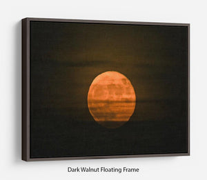 Super moon Floating Frame Canvas - Canvas Art Rocks - 5