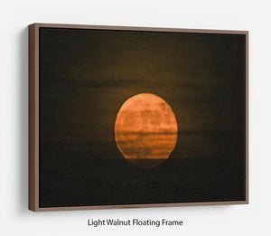 Super moon Floating Frame Canvas - Canvas Art Rocks 7