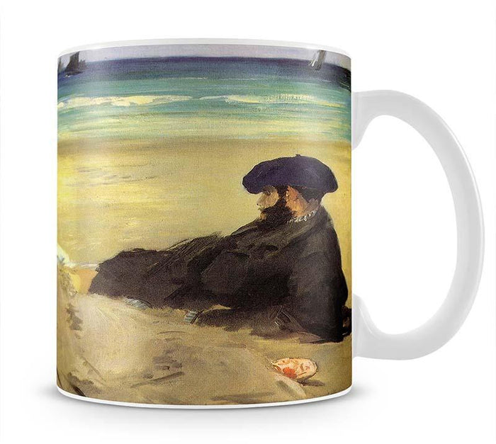 Sur la plage 1873 by Manet Mug
