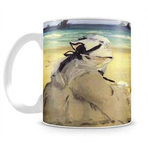 Sur la plage 1873 by Manet Mug - Canvas Art Rocks - 2