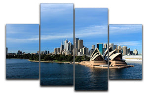 Sydney Australia City Skyline 4 Split Panel Canvas  - Canvas Art Rocks - 1
