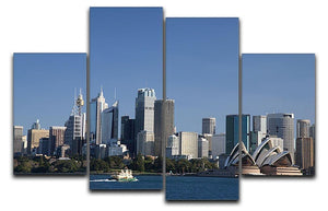 Sydney Cityscape Over Blue Sky 4 Split Panel Canvas  - Canvas Art Rocks - 1