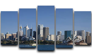 Sydney Cityscape Over Blue Sky 5 Split Panel Canvas  - Canvas Art Rocks - 1