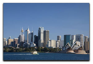 Sydney Cityscape Over Blue Sky Canvas Print or Poster  - Canvas Art Rocks - 1