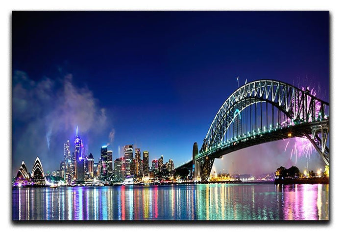 Sydney Harbour NYE Fireworks Canvas Print or Poster