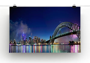 Sydney Harbour NYE Fireworks Canvas Print or Poster - Canvas Art Rocks - 2