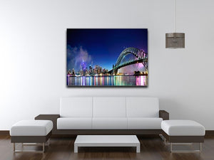 Sydney Harbour NYE Fireworks Canvas Print or Poster - Canvas Art Rocks - 4