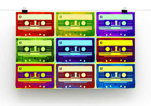 Retro Tape Cassettes Print - Canvas Art Rocks - 2