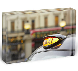 Taxi car selective focus Acrylic Block - Canvas Art Rocks - 1