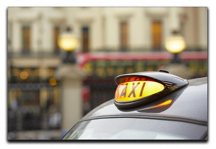 Taxi car selective focus Canvas Print or Poster