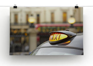 Taxi car selective focus Canvas Print or Poster - Canvas Art Rocks - 2