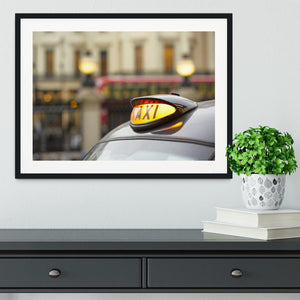 Taxi car selective focus Framed Print - Canvas Art Rocks - 1