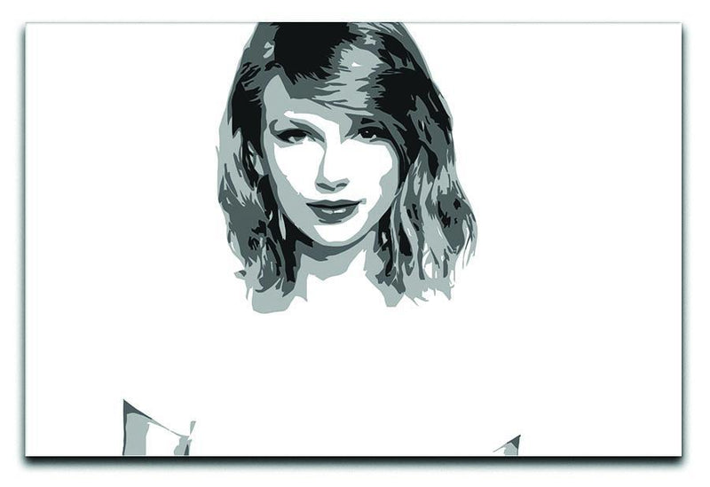 Taylor Swift Black and White Pop Art Canvas Print or Poster  - Canvas Art Rocks - 1