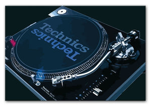 Technics 1210 Record Deck Print - Canvas Art Rocks - 7