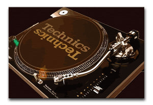 Technics 1210 Record Deck Print - Canvas Art Rocks - 8