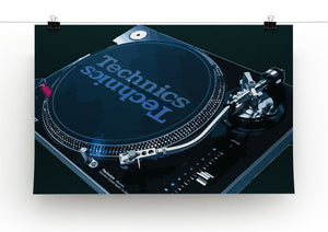 Technics 1210 Record Deck Print - Canvas Art Rocks - 3