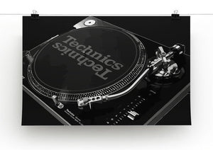 Technics 1210 Record Deck Print - Canvas Art Rocks - 6