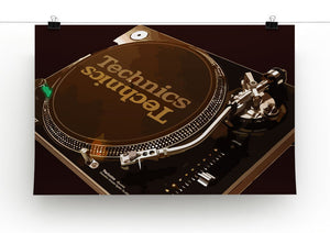 Technics 1210 Record Deck Print - Canvas Art Rocks - 4
