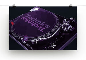 Technics 1210 Record Deck Print - Canvas Art Rocks - 2