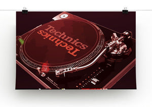 Technics 1210 Record Deck Print - Canvas Art Rocks - 5