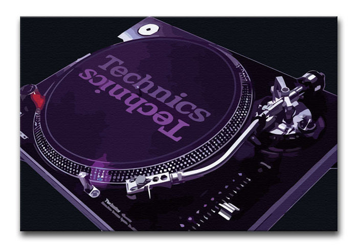 Technics 1210 Record Deck Canvas Print or Poster
