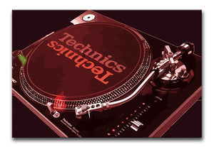 Technics 1210 Record Deck Print - Canvas Art Rocks - 9