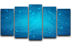 Technological vector 5 Split Panel Canvas  - Canvas Art Rocks - 1