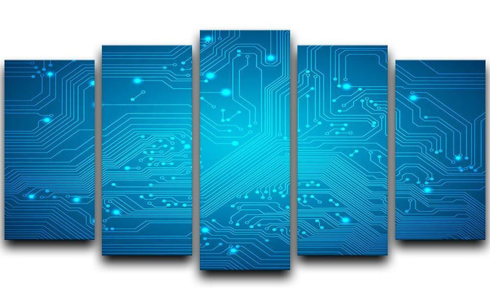 Technological vector 5 Split Panel Canvas