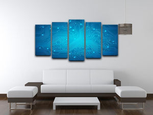 Technological vector 5 Split Panel Canvas  - Canvas Art Rocks - 3