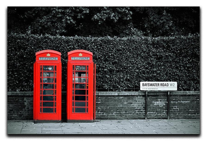 Telephone box in London street Canvas Print or Poster