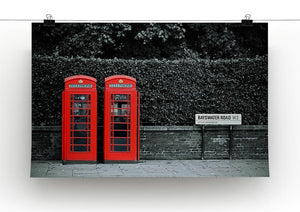 Telephone box in London street Canvas Print or Poster - Canvas Art Rocks - 2