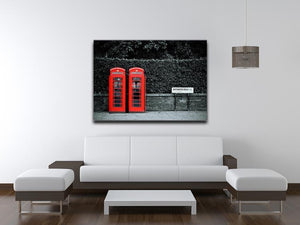 Telephone box in London street Canvas Print or Poster - Canvas Art Rocks - 4