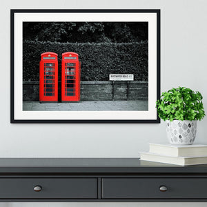 Telephone box in London street Framed Print - Canvas Art Rocks - 1