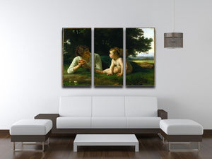 Temptation By Bouguereau 3 Split Panel Canvas Print - Canvas Art Rocks - 3
