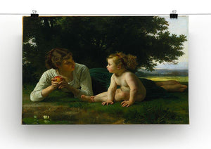 Temptation By Bouguereau Canvas Print or Poster - Canvas Art Rocks - 2