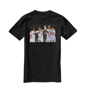 Terry Lampard Gerard and rooney England T-Shirt - Canvas Art Rocks - 1
