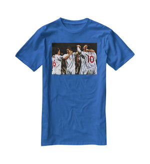 Terry Lampard Gerard and rooney England T-Shirt - Canvas Art Rocks - 2