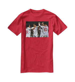 Terry Lampard Gerard and rooney England T-Shirt - Canvas Art Rocks - 4