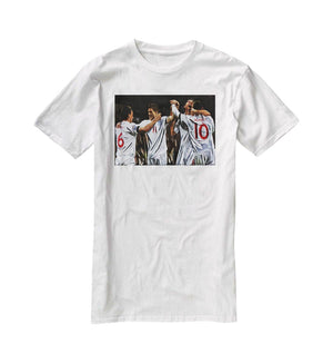 Terry Lampard Gerard and rooney England T-Shirt - Canvas Art Rocks - 5