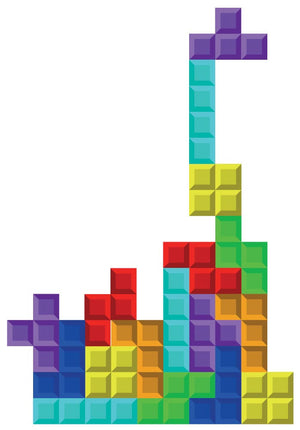 Tetris Wall Decal - Canvas Art Rocks - 2
