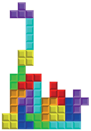 Tetris Wall Decal - Canvas Art Rocks - 3