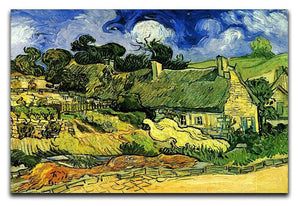 Thatched Cottages at Cordeville by Van Gogh Canvas Print & Poster  - Canvas Art Rocks - 1