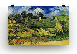 Thatched Cottages at Cordeville by Van Gogh Canvas Print & Poster - Canvas Art Rocks - 2