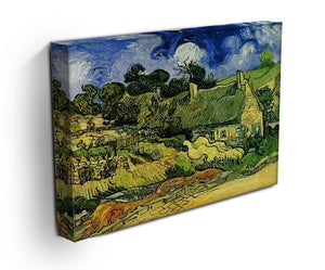 Thatched Cottages at Cordeville by Van Gogh Canvas Print & Poster - Canvas Art Rocks - 3