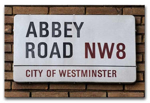 Abbey Road Street Sign Print - Canvas Art Rocks - 1