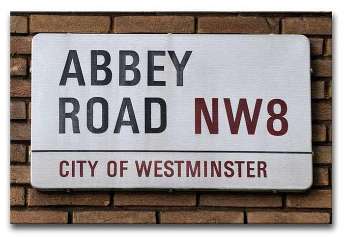 Abbey Road Street Sign Canvas Print or Poster