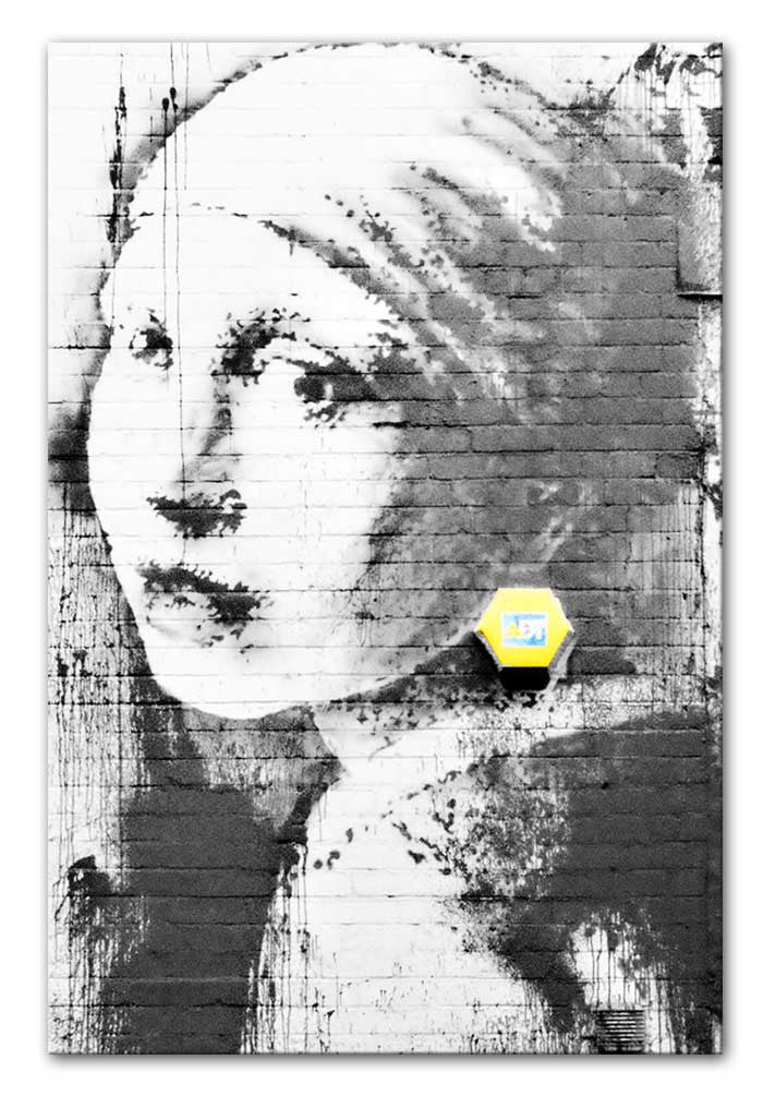 Banksy Girl With a Pierced Eardrum Canvas Print or Poster