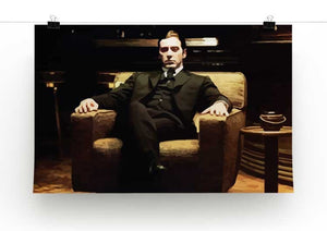 The Godfather Michael Corleone in Armchair  Print - Canvas Art Rocks - 2