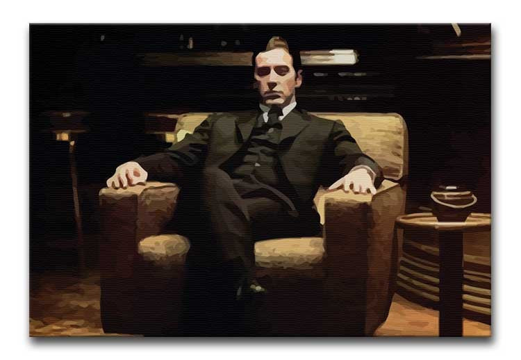 The Godfather Michael Corleone in Armchair  Print - Canvas Art Rocks - 1