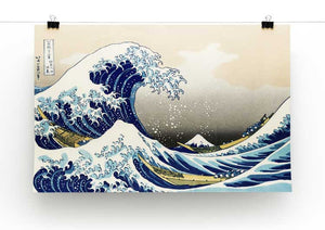 The Great Wave Off Kanagawa Print - Canvas Art Rocks - 2